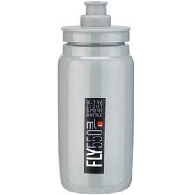 Elite Fly Trinkflasche 550ml grey/black logo